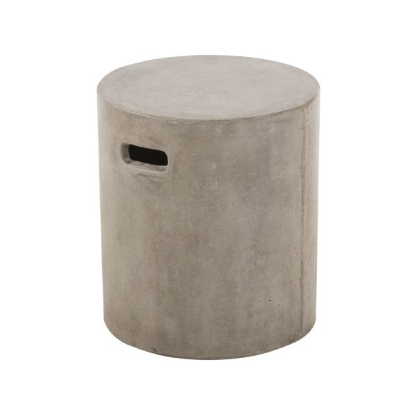GFRC OUTDOOR CONCRETE STOOL 40CM ROUND WITH HANDLE