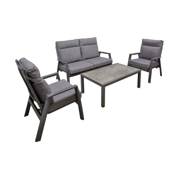 HAMILTON 4 SEATER OUTDOOR RECLINER SOFA LOUNGE SETTING