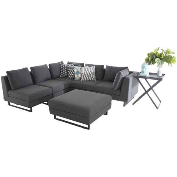 JACKSON 6 SEATER OUTDOOR ALUMINIUM MODULAR LOUNGE SETTING