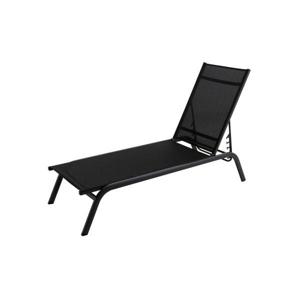 JUNE OUTDOOR SUNLOUNGER CHARCOAL/BLACK