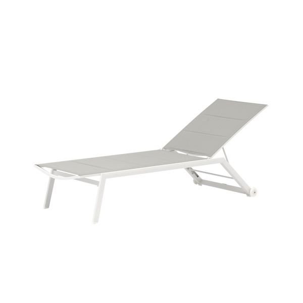 KENT OUTDOOR DOUBLE TEXTILENE SUNLOUNGER WHITE