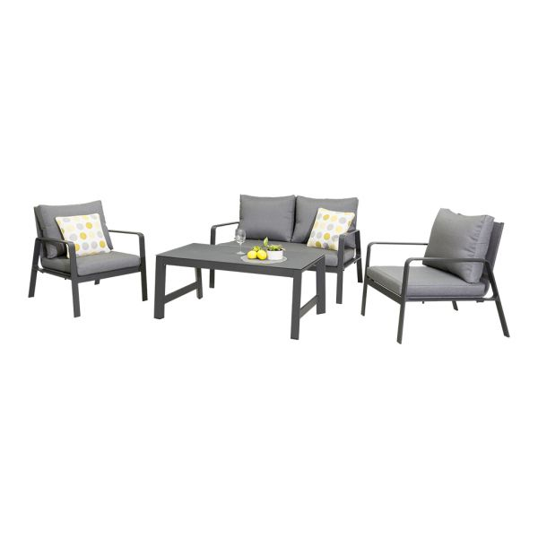 KOTA 4 SEATER ALUMINIUM OUTDOOR LOUNGE SETTING