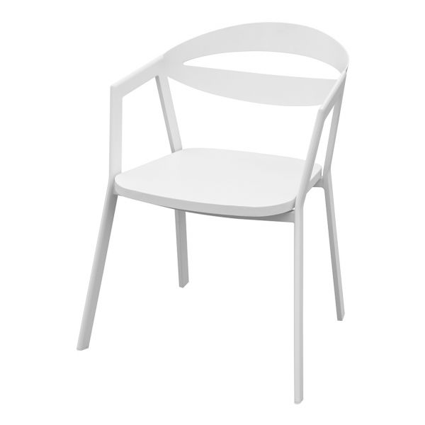 LAVIDA OUTDOOR ALUMINIUM DINING CHAIR WHITE