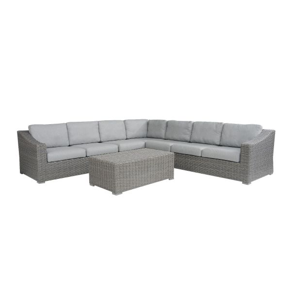 LECCO OUTDOOR MOD 7 SEATER MODULAR SETTING CHARCOAL