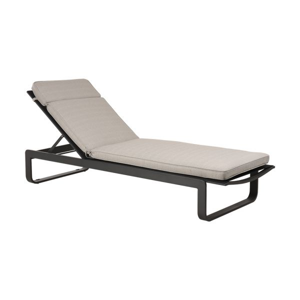 MEDOC OUTDOOR SUNLOUNGER CUSHION GRAPHITE