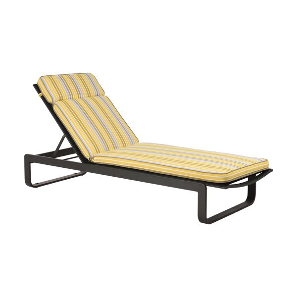 PARKER STRIPE OUTDOOR SUNLOUNGER CUSHION CITRONE