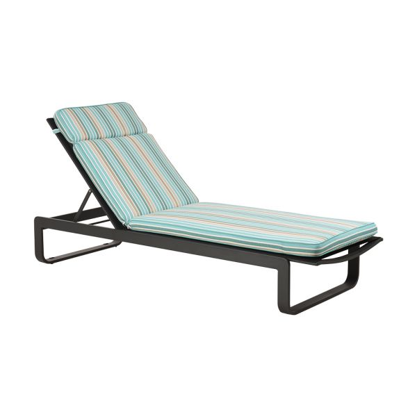 PARKER STRIPE OUTDOOR SUNLOUNGER CUSHION LAKESIDE