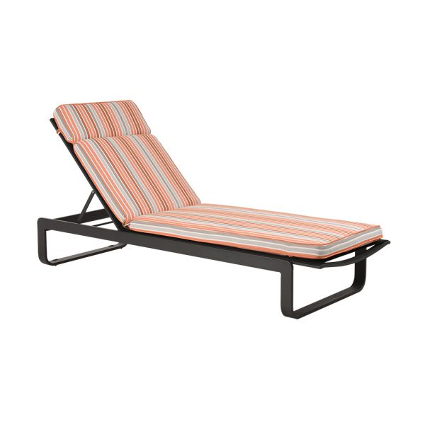 PARKER STRIPE OUTDOOR SUNLOUNGER CUSHION TUSCAN
