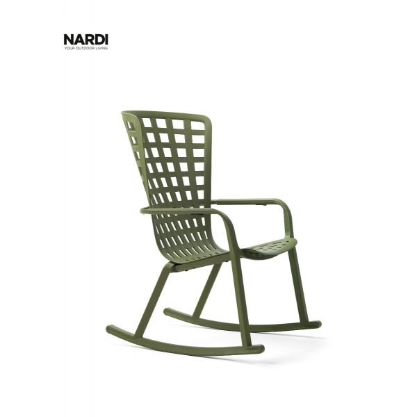 NARDI FOLIO OUTDOOR RESIN ROCKING CHAIR GREEN(AGAVE)