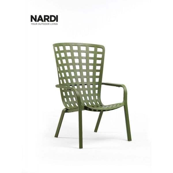 NARDI FOLIO OUTDOOR RESIN LEISURE ARMCHAIR GREEN (AGAVE)