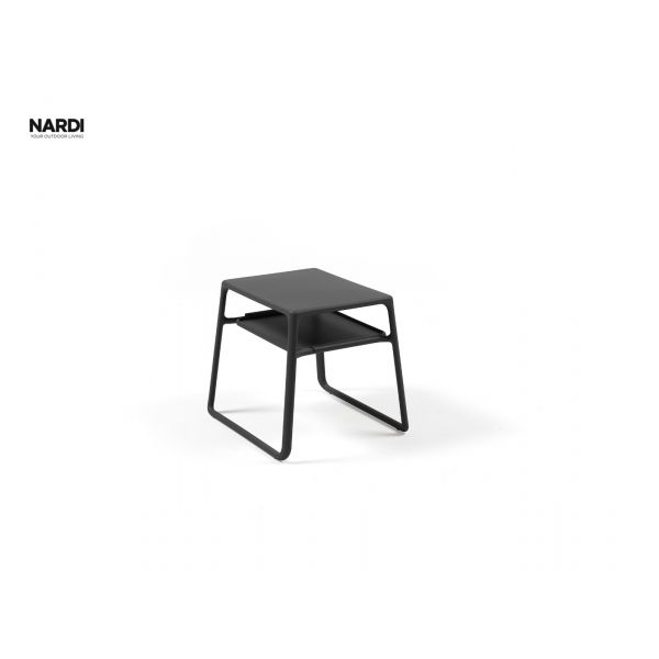 NARDI POP RESIN OUTDOOR SIDE TABLE  ANTHRACITE 39.5X44X38.5CM