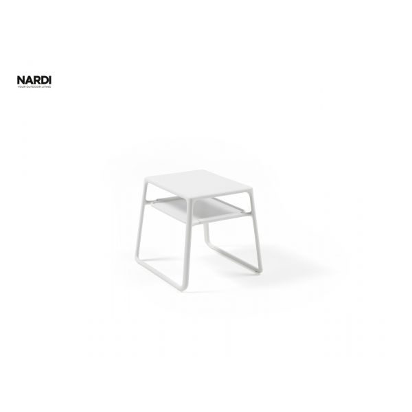 NARDI POP RESIN OUTDOOR SIDE TABLE  WHITE (BIANCO) 39.5X44X38.5CM