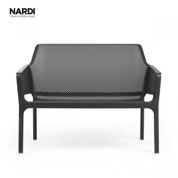 NARDI NET OUTDOOR RESIN BENCH ANTRACITE