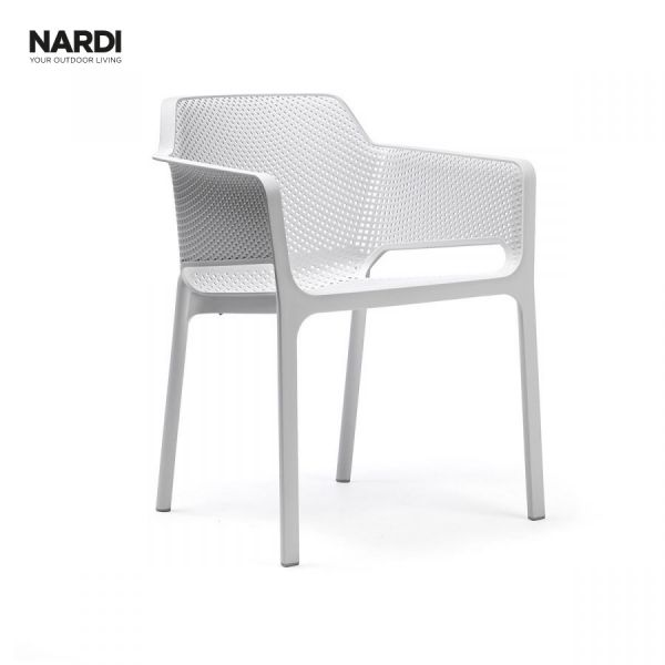 NARDI NET OUTDOOR RESIN DINING CHAIR WHITE (BIANCO)