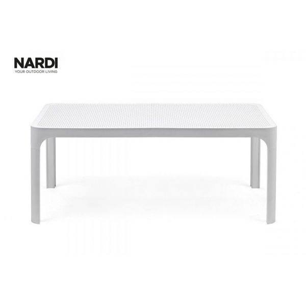 NARDI NET OUTDOOR RESIN COFFEE TABLE WHTIE (BIANCO) 100CM
