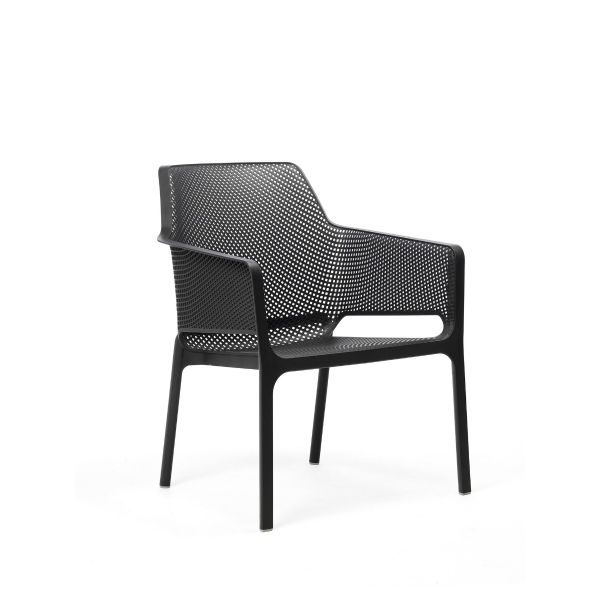 NARDI NET OUTDOOR RESIN RELAX CHAIR ANTHRACITE