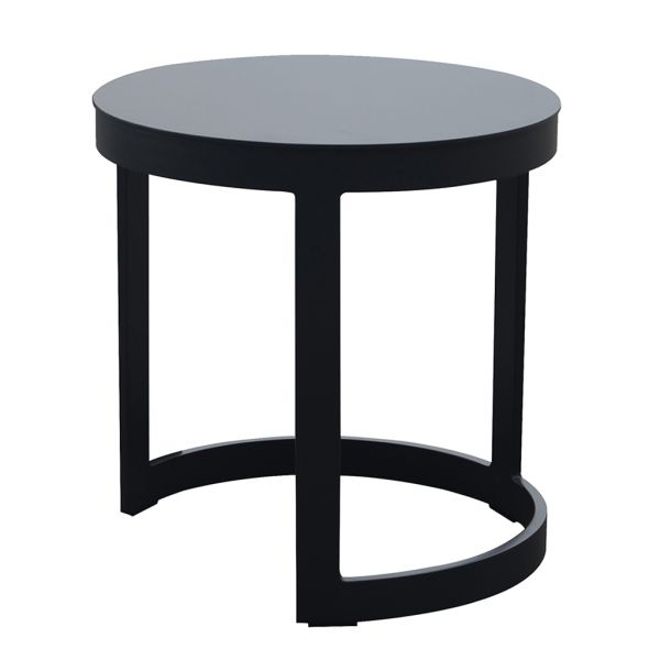 NEVERLAND OUTDOOR ALUMINIUM SIDE TABLE CHARCOAL DIA.52 X H52 CM