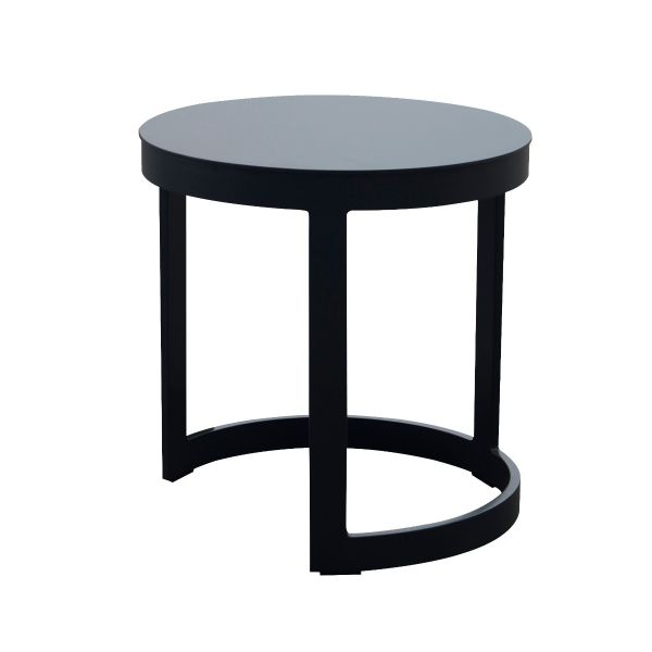 NEVERLAND OUTDOOR ALUMINIUM SIDE TABLE CHARCOAL DIA.44 X H46 CM