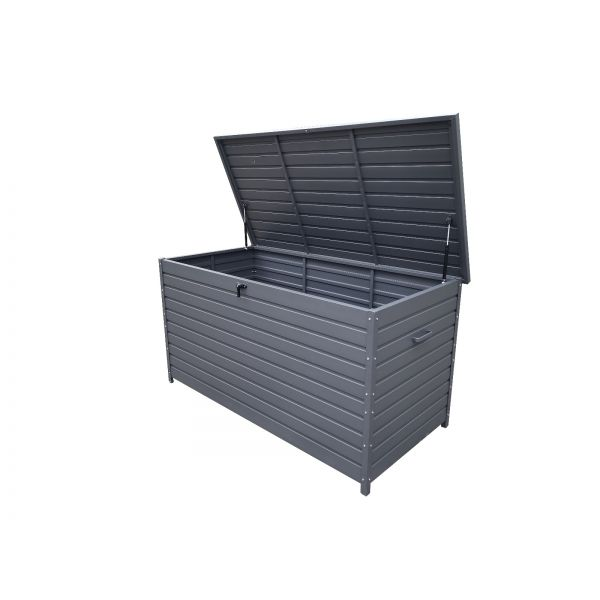 NOTTINGHAM OUTDOOR ALUMINIUM CUSHION BOX L159 X W79.5 X H83