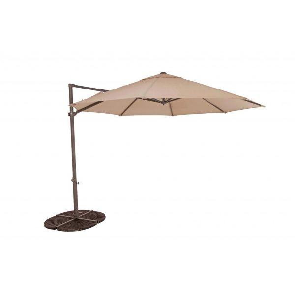 PANDANUS UMBRELLA CANTILEVER+COVER 330CM OCT SANDSTONE