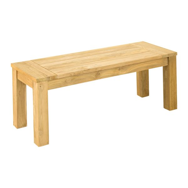 POLLY OUTDOOR RECYCLED TEAK BENCH NATURAL - 110 x 40 x 45CM