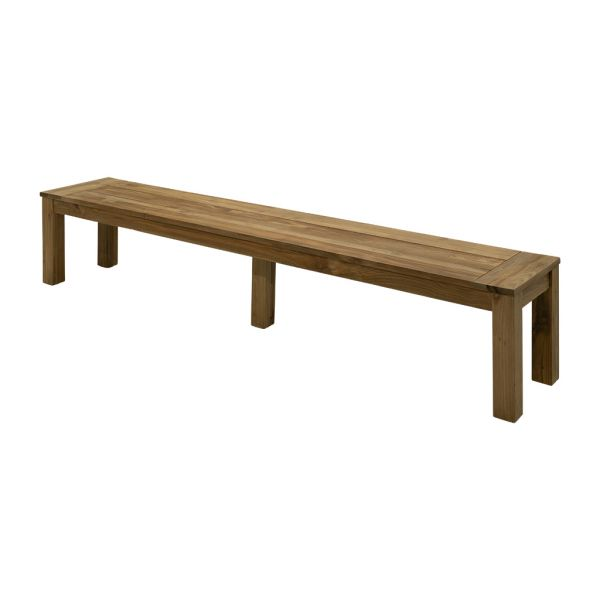 POLLY OUTDOOR RECYCLED TEAK BENCH NATURAL 220 X 40 CM