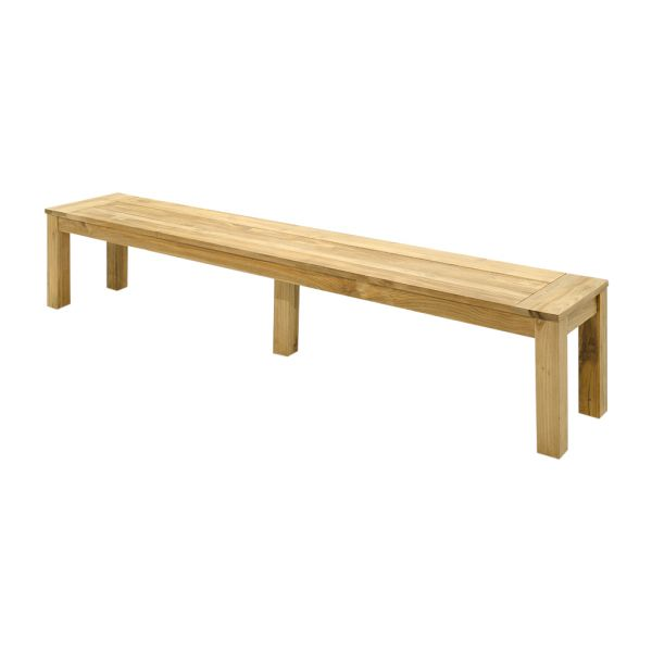 POLLY OUTDOOR RECYCLED TEAK BENCH NATURAL 270 X 40 CM