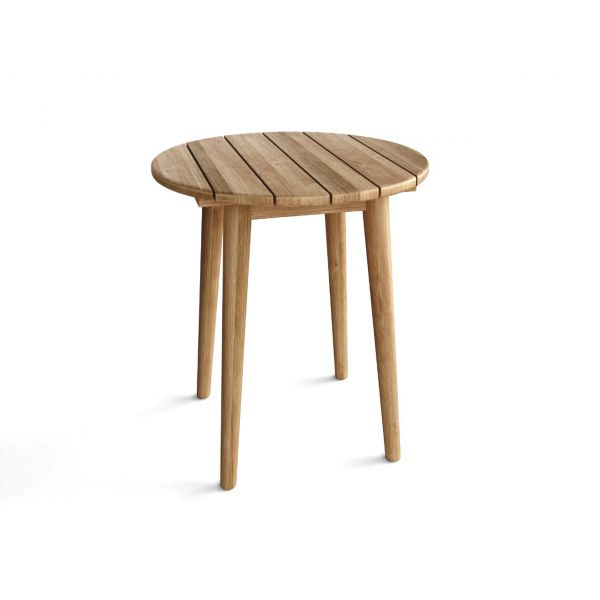 BURNABY OUTDOOR COFFEE TABLE SMALL ROUND RECYCLED TEAK DIA.40X46CM