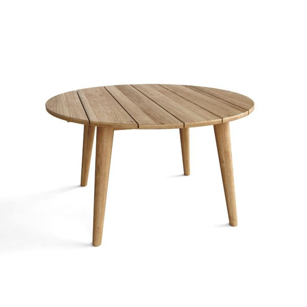 BURNABY OUTDOOR  COFFEE TABLE LARGE ROUND RECYCLED TEAK DIA.75X43CM