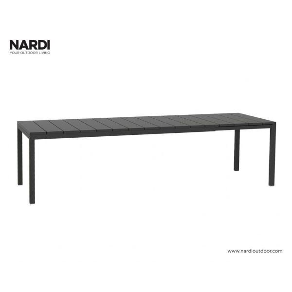 NARDI RIO OUTDOOR RESIN EXTENSION DINING TABLE ANTHRACITE - 210/280CM x 100CM