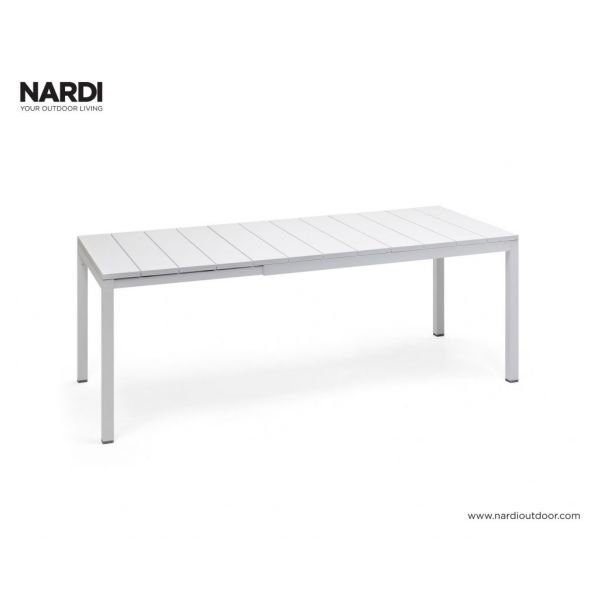 NARDI RIO OUTDOOR RESIN EXTENSION DINING TABLE WHITE (BIANCO)-140 / 210 x 85CM