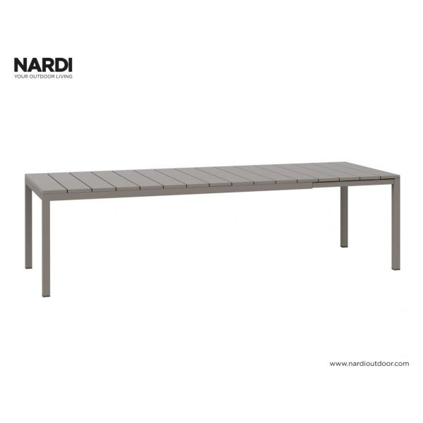 NARDI RIO OUTDOOR RESIN EXTENSION DINING TABLE LIGHT BROWN (TORTORA) -210 / 280 x 100CM