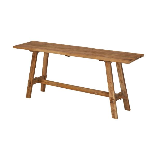 ROCHESTER OUTDOOR RECYCLE TEAK BUFFET TABLE NATURAL 180X45X75CM