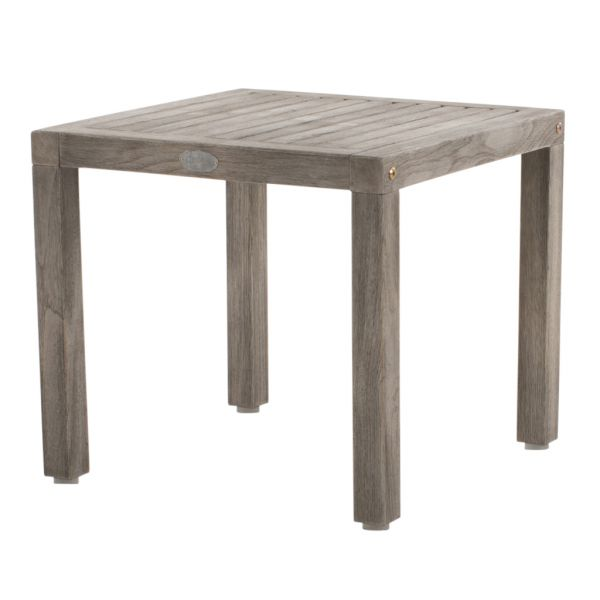 RICHMOND OUTDOOR TEAK SIDE TABLE GREY WASH