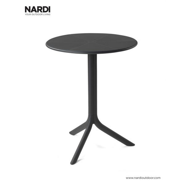 NARDI SPRITZ OUTDOOR RESIN DINING TABLE ANTRACITE