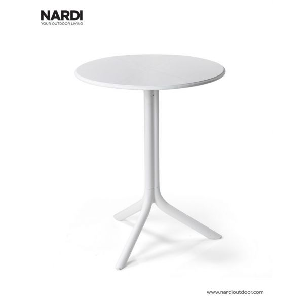 NARDI SPRITZ OUTDOOR RESIN DINING TABLE WHITE (BIANCO)
