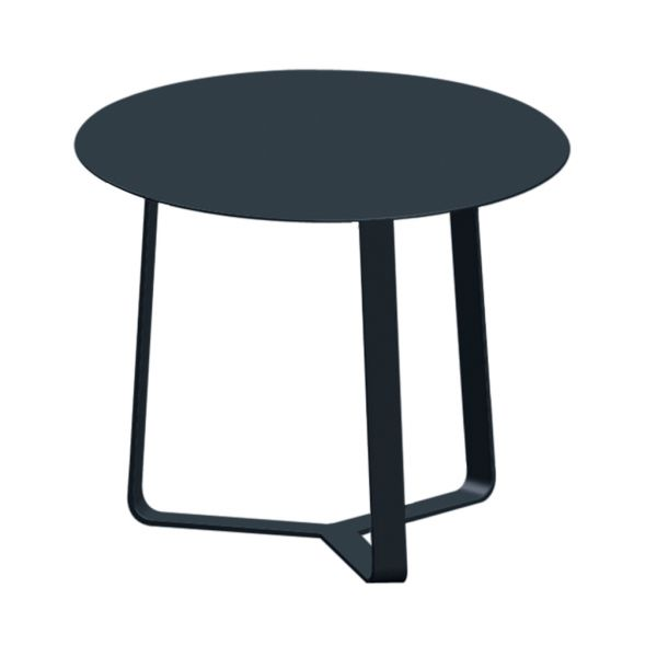 APOLLO OUTDOOR ALUMINIUM SIDE TABLE CHARCOAL DIA.57 X H60 CM
