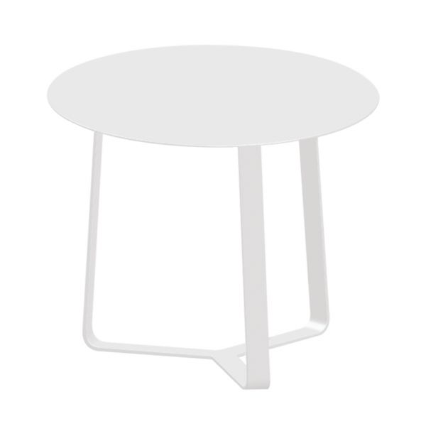 APOLLO OUTDOOR ALUMINIUM SIDE TABLE WHITE DIA.57 X H60 CM