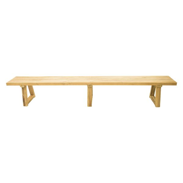 VALLEY OUTDOOR RECYCLED TEAK BENCH NATURAL -300 x 40 x 45 CM