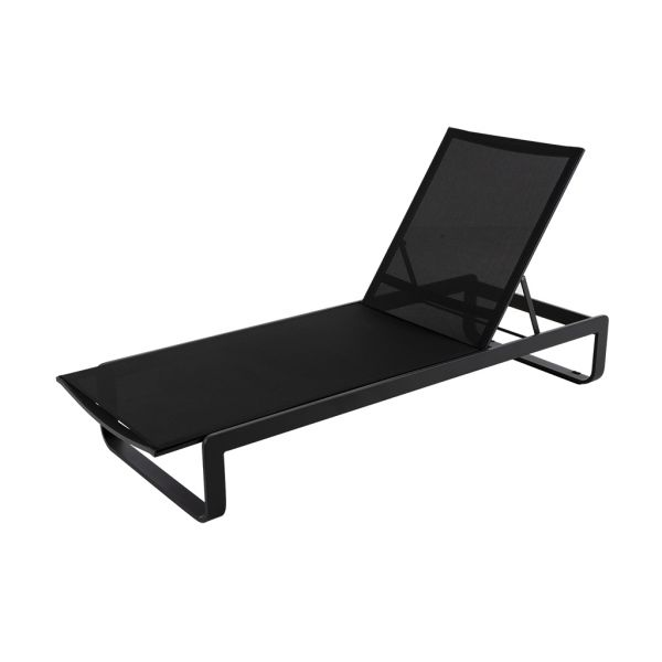VERONA OUTDOOR SUNLOUNGER BLACK