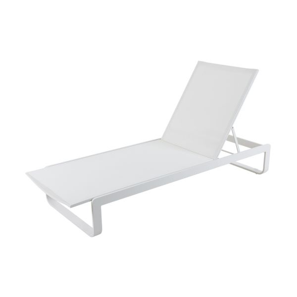 VERONA OUTDOOR SUNLOUNGER WHITE
