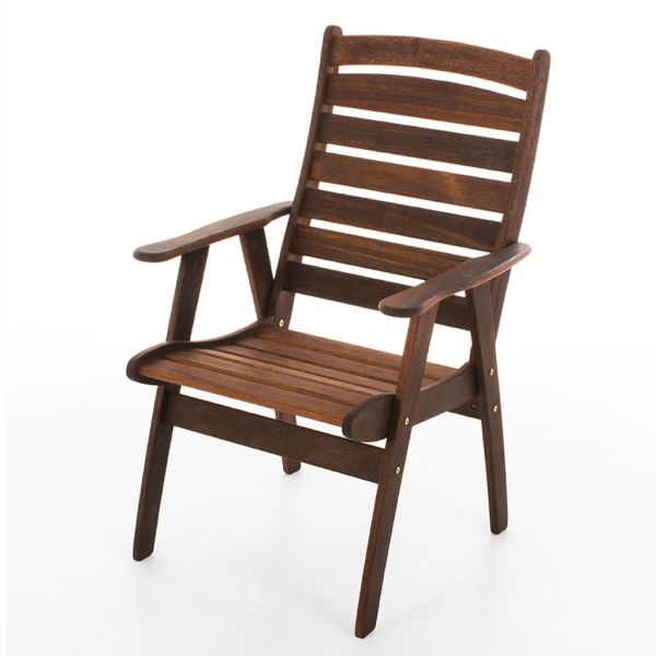 VIENNA OUTDOOR MERBAU HIGH BACK DINNG CHAIR