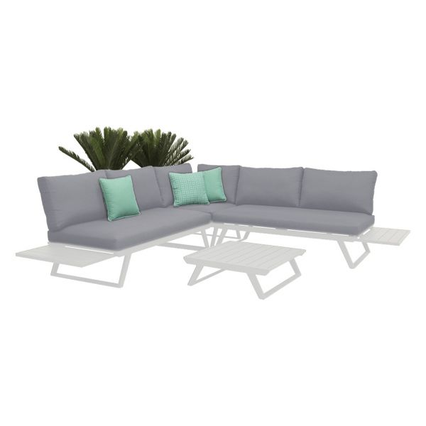 YARRA  MOD 5 SEATER OUTDOOR LOUNGE SETTING WHITE