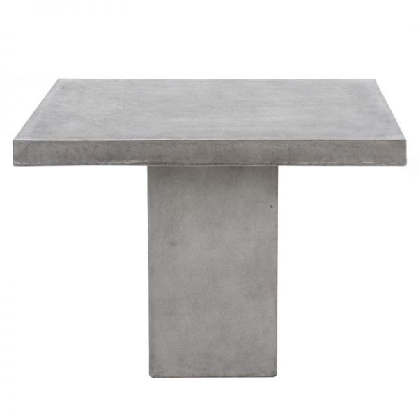 ZEN OUTDOOR GFRC CONCTETE DINING TABLE WITH PEDESTAL LEG 100CM SQUARE