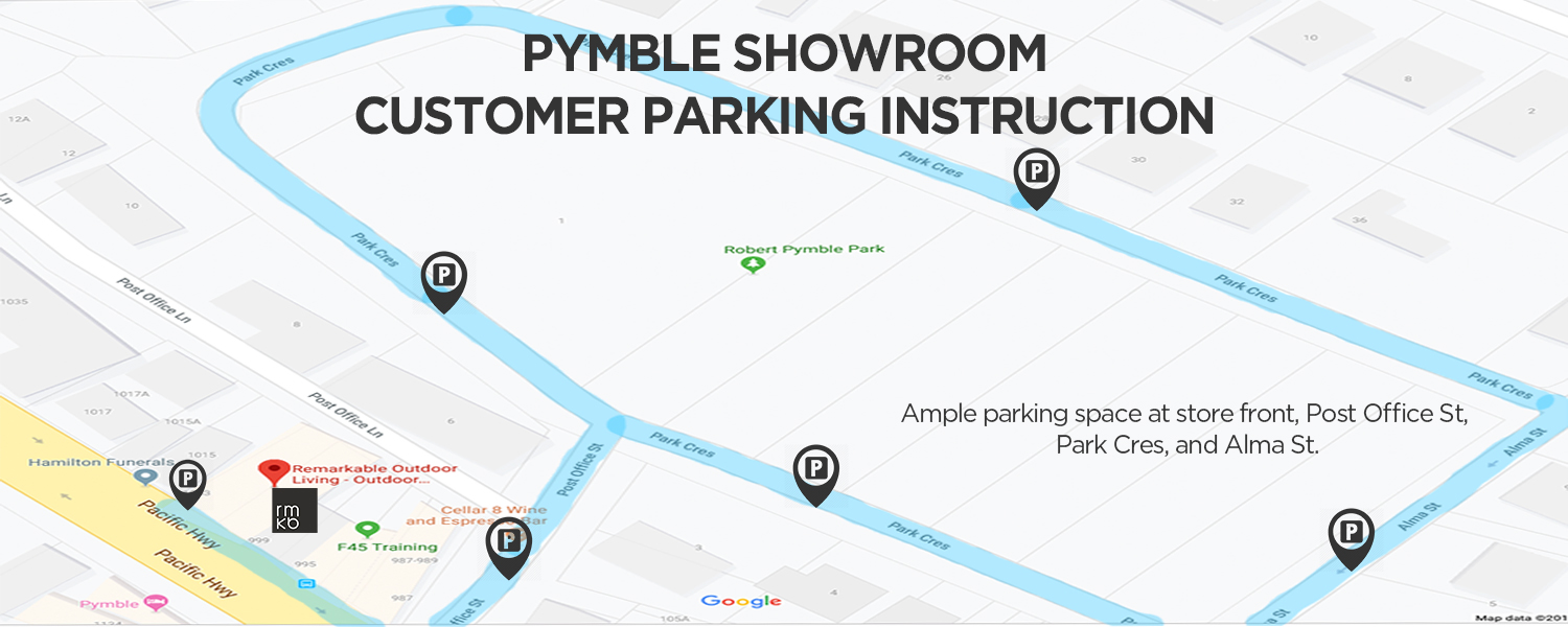 pymble showroom customer parking